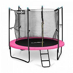 Klarfit Rocketgirl 250, 250 cm trampolína, vnútorná bezpečnostná sieť, široký rebrík, ružová