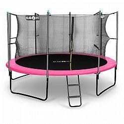Klarfit Rocketgirl 366, 366 cm trampolína, vnútorná bezpečnostná sieť, široký rebrík, ružová