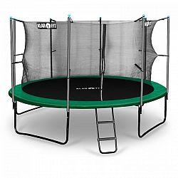Klarfit Rocketstart 366, 366 cm trampolína, vnútorná bezpečnostná sieť, široký rebrík, zelená