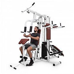 Klarfit Ultimate Gym 9000, 7 staníc, do 150 kg, QR oceľ, biela
