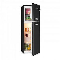 Klarstein Audrey, chladnička s mrazničkou, 90 l/39 l, retro vzhľad, čierna