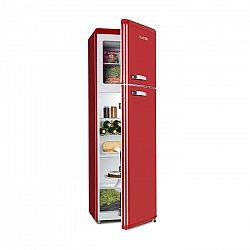 Klarstein Audrey Retro retro kombinácia chladničky s mrazničkou, 194 l/56 l, A++, červená