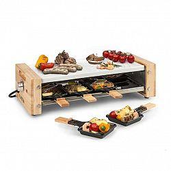 Klarstein Chateaubriand Nuovo, raclette, 1200 W, hliník, 8 osôb, drevený dekor