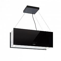 Klarstein Kronleuchter XL, závesný digestor, 90 cm, 590 m³/h, LED, dotykové ovládanie, čierny