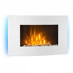 Klarstein Lausanne, elektrický krb, 2000 W, LED plamene, diaľkový ovládač, biely