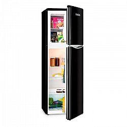 Klarstein Monroe XL Black, kombinovaná chladnička, mraznička, 97/39l, A+, retro dizajn, čierna