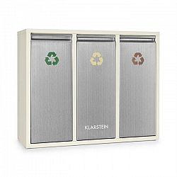 Klarstein Ordnungshütter 3, 45 l, krémovo-béžová, box na triedený odpad, 3 x 15 l