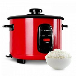 Klarstein Osaka 1,5, červený, varič na ryžu, 500 W, 1,5 liter, funkcia udržania tepla