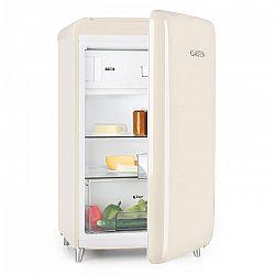 Klarstein Popart Cream, krémová, retro chladnička, A++, 108 l/18 l mraziaci box