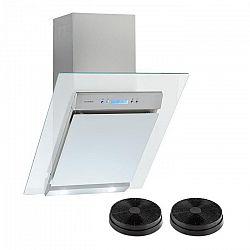 Klarstein Skycook, digestor, set, filtre s aktívnym uhlím, 60 cm, 640m³/h, sklo, nerezová oceľ