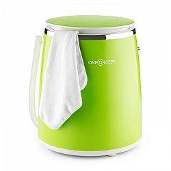 OneConcept Ecowash-Pico, zelená, mini práčka, funkcia žmýkania, 3,5 kg, 380 W