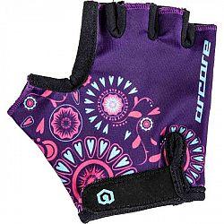 Arcore LUKE fialová 4 - Detské cyklistické rukavice
