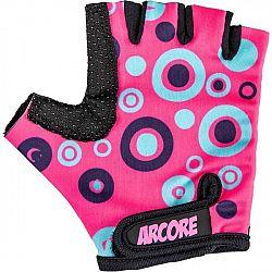 Arcore ZOAC ružová 10 - Detské cyklistické rukavice