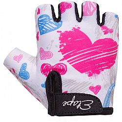 Etape TINY biela 5-6 - Detské cyklistické rukavice
