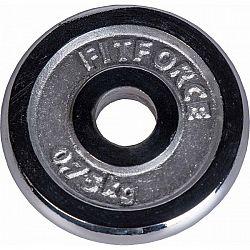 Fitforce NAKLADACÍ KOTÚČ 0,75 KG CHRÓM - Nakladací kotúč