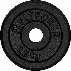 Fitforce NAKLADACÍ KOTÚČ 1,5KG ČIERNY - Nakladací kotúč
