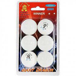 Giant Dragon WHT PI PO MICKY 6PCS - Loptičky na stolný tenis