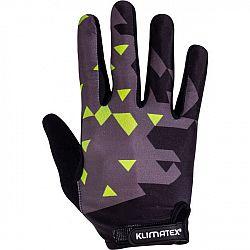 Klimatex PIRIN čierna L - Pánske cyklistické prstové rukavice
