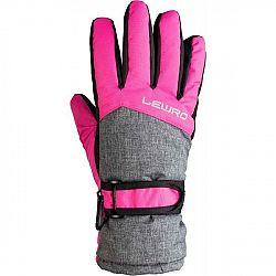 Lewro NALANI ružová 8-11 - Detské lyžiarské rukavice