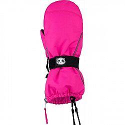 Lewro PINO ružová 8-9 - Detské palcové rukavice