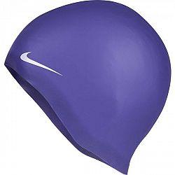 Nike SOLID SILICONE fialová NS - Plavecká čiapka
