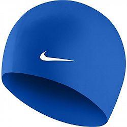 Nike SOLID SILICONE modrá NS - Plavecká čiapka