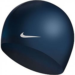 Nike SOLID SILICONE tmavo modrá NS - Plavecká čiapka