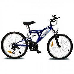 Olpran MAGIC 24 modrá NS - Detský celoodpružený bicykel