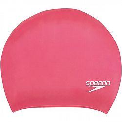 Speedo LONG HAIR CAP ružová NS - Plavecká čiapka na dlhé vlasy