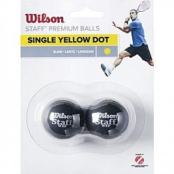 Wilson STAFF SQUASH 2 BALL YEL DOT - Squashová loptička