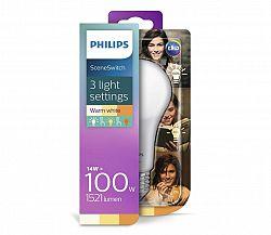 Philips LED Žiarovka Philips SCENE SWITCH A67 E27/14W/230V 2200K