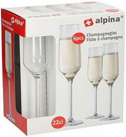 Alpina Pohár na šampanské ALPINA 220ml 6ks