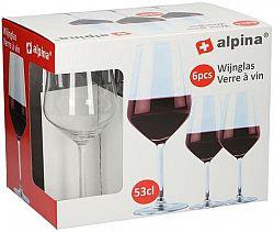 Alpina Poháre na červené víno ALPINA 530ml 6ks