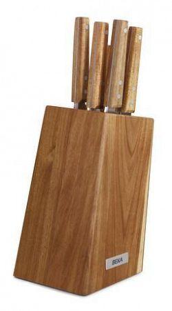 BEKA Drevený blok na nože BEKA Nomad + 5 nožov