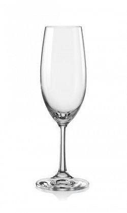 Bohemia Crystal Pohár na šampanské LARA 220ml 6ks
