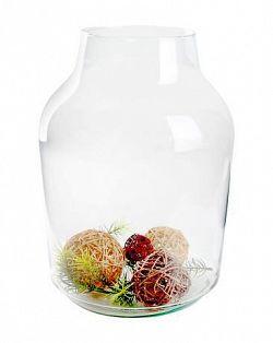 DUIF Sklenená váza BANGS 37x14,5cm
