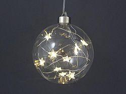 Gule vianočné s 10 LED hviezdičkami, priemer 10 cm