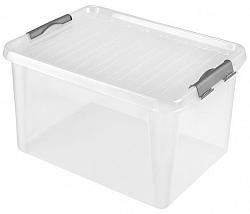 heidrun Plastový úložný box s vekom HEIDRUN Clip box 31l