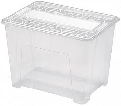 heidrun Plastový úložný box s vekom HEIDRUN TexBox 21l