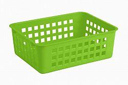 Keeeper Košík stohovateľný, plast, svetlo zelený
