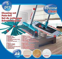 Lifetime Set čistiaci - 2 x mop, 1 x zmeták