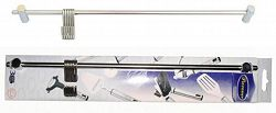 Provence Tyč na zavesenie, 6 háčikov, nerez, 40 cm