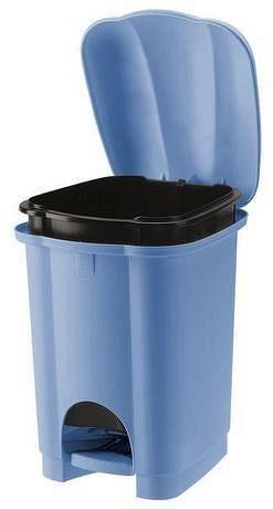 Tontarelli Plastový nášlapný kôš na odpadky TONTARELLI Carolina 6l svetlo modrá