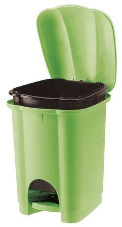 Tontarelli Plastový nášlapný kôš na odpadky TONTARELLI Carolina 6l zelená