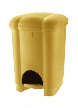 Tontarelli Plastový nášlapný kôš na odpadky TONTARELLI Carolina 6l žltá