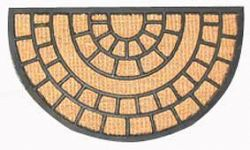 TORO Rohožka polkruh kokos a guma, 40 x 70 cm