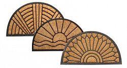 TORO Rohožka polkruhová, kokos a guma, 40 x 70 cm