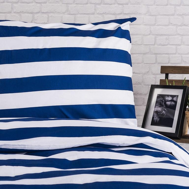 4Home bavlnené obliečky Navy, 140 x 200 cm, 70 x 90 cm
