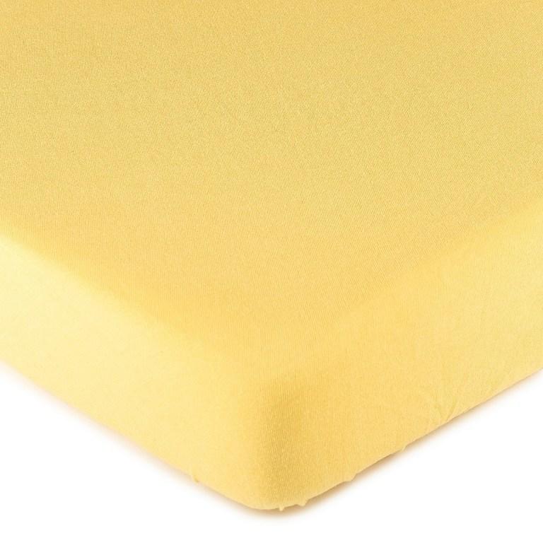 4Home jersey prestieradlo žltá, 90 x 200 cm