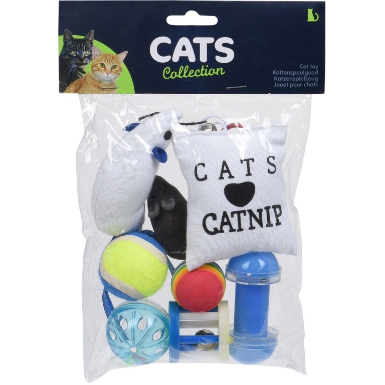 Sada hračiek pre mačky Cats catnip, 8 ks